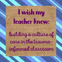 """Building a trauma informed classroom isn't something we're always trained for. Often, teachers don't have the same insight into student needs as school counselors (or the students themselves). This no-prep lesson builds on the """"I wish my teacher knew..."""" fad to include passive reinforcement of letter writing skills, because there's always room for common core standards in school counseling interventions.This download includes everything you will need to pilot an """"I wish my teacher knew...""""…"""