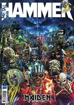 Metal Hammer: Iron Maiden na sensacional capa da edição #295 ~ IRON MAIDEN 666 - BRASIL