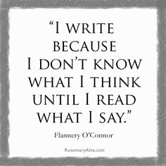 Write. Then read how you really feel.