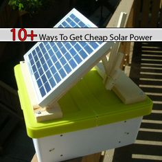10+ Ways To Get Cheap Solar Power http://www.livinggreenandfrugally.com/get-cheap-solar-power/