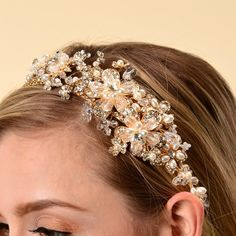 Jewelry & Accessories Honesty Bridal Wedding Hair Accessories For Women Gold Silver Leaf Headband Snap Barrette Hair Comb Clip Hairpin Jewelry Headpiece Crease-Resistance