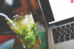 Free Image: Mojito with a Laptop | Download more on picjumbo.com!
