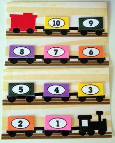 MOM.b.a. - Master's of my Baby Abilities: Project: No-Sew Toddler Quiet Book Page Idea - Counting Train