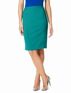 High-Waist Pegged Pencil Skirt. It is much more green in real life!