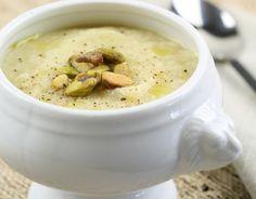 Cantinho Vegetariano: Sopa de Couve-Flor com Alho-Poró (vegana)