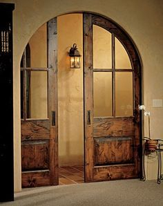 pocket door in arched opening - Google Search