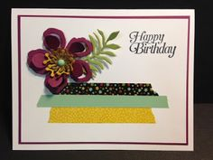Sky is the Limit, Botanical Framelits, 2016 Occasions Catalog, Birthday Card, Stampin' Up!, Rubber Stamping, Handmade Cards