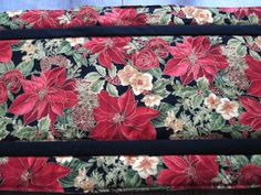 Christmas  quilted table runner  Pointsettias by KellettKreations, $25.00