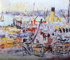 """""""Kees van Dongen (Dutch 1877-1968) Le Port de Rotterdam """""""
