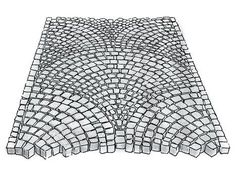 Laying paving stones: step-by-step instructions plus sample - Garten Design Paver Patterns, Paving Pattern, Stone Pavement, Casa Patio, Home Garden Design, Design Your Dream House, Big Garden, Paving Stones, Garden Paths