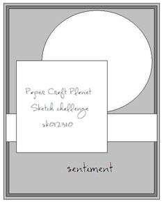 Sketch Challenge-January 23, 2010 (sk012310) - Paper Craft Planet
