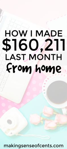 Here's how Michelle made $160,211.27 last month blogging. Yes, you can actually make money blogging! Here are her tips, exactly what she's working on, and more, so that she can earn a living from home.