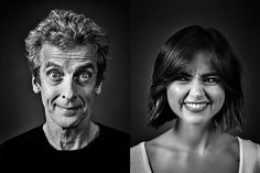 """""""Outtakes from the lovely Peter Capaldi and Jenna Coleman shoot"""" Andy Gotts Doctor Who, 12th Doctor, Twelfth Doctor, Andy Gotts, Science Fiction, Clara Oswald, Don't Blink, Peter Capaldi, Jenna Coleman"""