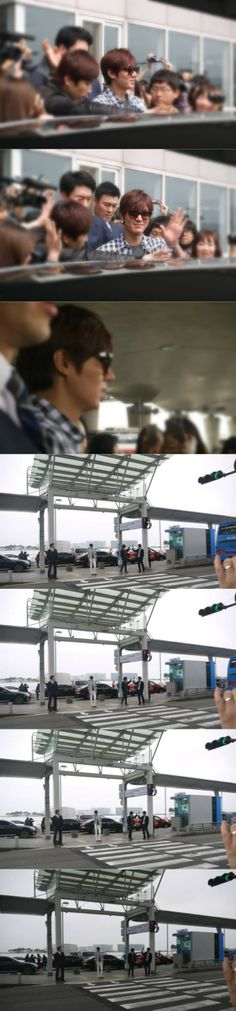 Minoz montage about Lee Min Ho in airport.