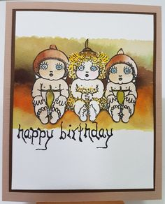 Gumnut Baby Trio | Art Attic Studio Australian Christmas Cards, Baby Artwork, Stamp World, Studio Cards, Die Cut Cards, Australian Art, Paper Roses, Scrapbook Cards, Scrapbooking