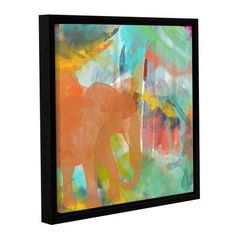 """Latitude Run Spectacular Effect III Framed Painting Print on Wrapped Canvas Size: 14"""" H x 14"""" W x 2"""" D"""
