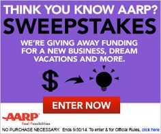 Win with AARP! Ages 45+