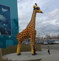 Lego giraffe at the outlet mall in Michigan  #Michigan #giraffe #outletmall #lego by breezy7897