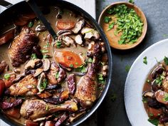 Coq au Vin | This classic red wine chicken stew from Burgundy is simplified—it's not marinated overnight and there are no pearl onions.