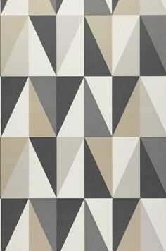 Wallpaper Lenus (Anthracite grey, Basalt grey, Cream, Yellow grey, Stone grey) | Wallpaper from the 70s