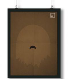 Pôster/Quadro minimalista Star Wars – Chewbacca