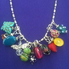 12 Charm Necklace on a 24 inch ball/bead chain by AnnPedenJewelry, $27.99