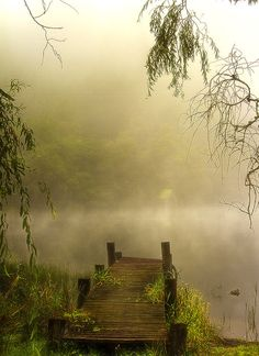 "lori-rocks: "" Jetty in the mist… by K Williams """