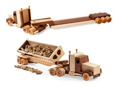 Construction-Grade Tractor/Trailer Woodworking Plan from WOOD Magazine Woodworking Toys, Popular Woodworking, Woodworking Projects, Woodworking Magazine, Woodworking Workshop, Wooden Toy Trucks, Making Wooden Toys, Plan Toys, Wood Magazine