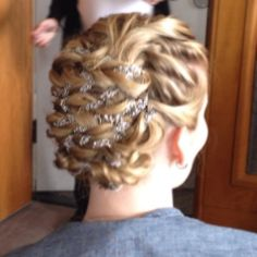 Braided bridal hair by Styles on B