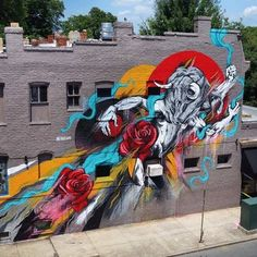 Artist: House of Meggs Finished mural 'Minotaur