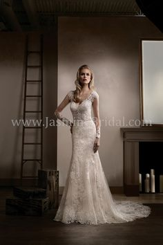 Jasmine Bridal Couture Style T192002 in Ivory/Vintage