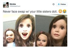 It's all fun and games with face swapping and filters till you accidentally create something out of your worst nightmares.