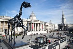 'Gift Horse' the latest Fourth Plinth Installation in London's Trafalgar Square by German Artist Hans Haacke