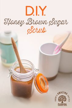 Treat yourself to a simple spa experience at home using natural ingredients from your kitchen. This easy to create scrub is a great way to pamper yourself and your skin without all the fuss. Simply combine 1 cup brown sugar, cup olive oil, 1 teaspoon v Homemade Scrub, Diy Scrub, Hand Scrub, Homemade Gifts, Beauty Care, Diy Beauty, Beauty Hacks, Diy Spa, At Home Spa