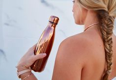 S'well Bottle Rose Gold Metallic Collection Luxurious Gifts Medium 17oz Water…