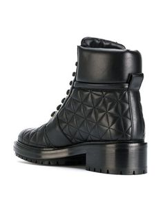Balmain quilted lace-up ankle boots