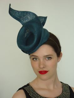 Turquoise headpiece by Louise Macdonald