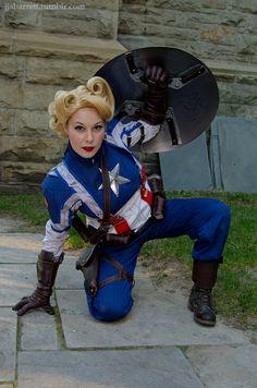 Female Captain America, Prepared for Battle by Dangerousladies.