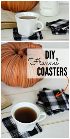 Easy DIY Flannel Coasters are fun and easy sewing project that makes a lovely handmade gift. Easy DIY Fabric Coasters are fun and easy sewing project that makes a lovely handmade gift. Raid your scrap fabric bag and find the perfect flannel fabric. Diy Sewing Projects, Sewing Projects For Beginners, Sewing Hacks, Sewing Tutorials, Sewing Tips, Sewing Crafts, Diy Projects Fun, Diy Gifts Sewing, Halloween Sewing Projects