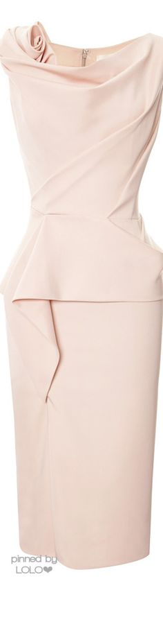 Marchesa Peplum Cocktail Dress ✿⊱╮