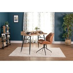 Shop Calico Designs Devonport Swivel, Home Office Accent Chair in Black Metal 4-Star Base/Anitque Copper Faux Leather - Free Shipping Today - Overstock - 29630134