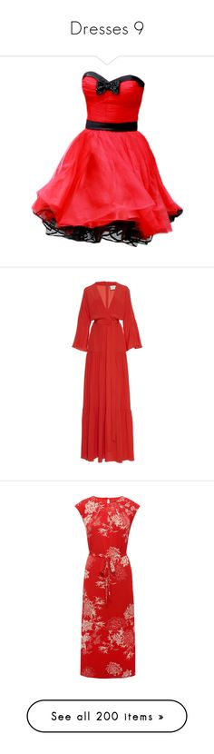"""""""Dresses 9"""" by canadian-necromancer ❤ liked on Polyvore featuring dresses, vestidos, red, short dresses, red carpet dresses, short red dress, red dresses, red mini dress, gowns and maxi dresses"""