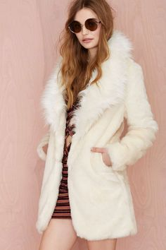 Nasty Gal Tina Faux Fur Coat