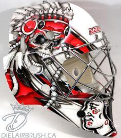 Chicago Blackhawks Goalie Mask