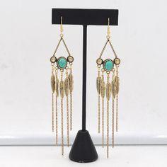 Chandelier Earrings Pendientes Long Boho Fringe Earrings Boho Chic Jewelry Gypsy Statement Dangle Drop Earrings Boheme brincos