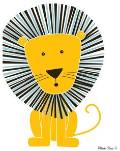 Nursery art nursery decor baby nursery print kids room decor nursery wall art lion 810 in. print- Lion Little Girls Room art Baby Decor Kids lion Nursery Print room Wall