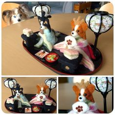 I made a Papillon figures for Girls Festival in Japan , Needle Felting - @momos_gallery- #webstagram