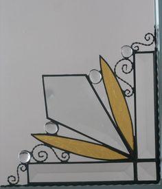 stained glass window corner / teardrop bevel by GLASSCORNER