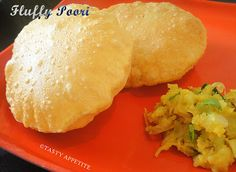how to make fluffy poori / easy step by step recipe  http://www.tastyappetite.net/2013/01/how-to-make-puri-indian-poori-recipe_2.html