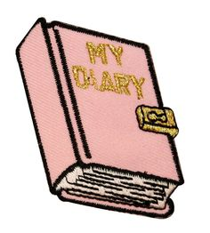 ID 0149 My Diary Embroidered Iron On Badge Applique by CoolPatches